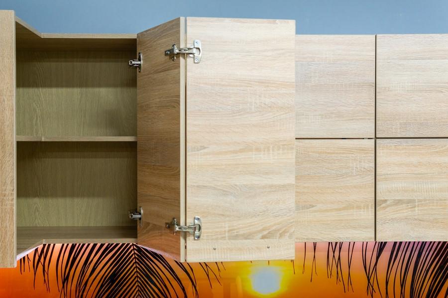 Белый кухонный гарнитур-Кухня МДФ в ПВХ «Модель 45»-фото7