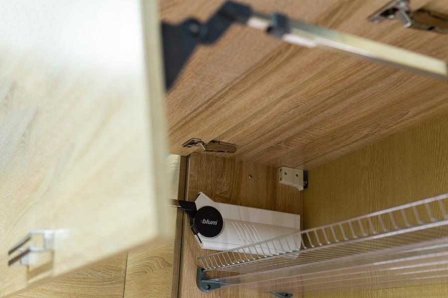 Белый кухонный гарнитур-Кухня МДФ в ПВХ «Модель 45»-фото8