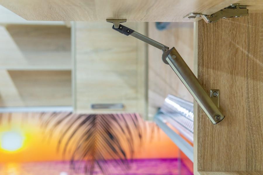 Белый кухонный гарнитур-Кухня МДФ в ПВХ «Модель 45»-фото9
