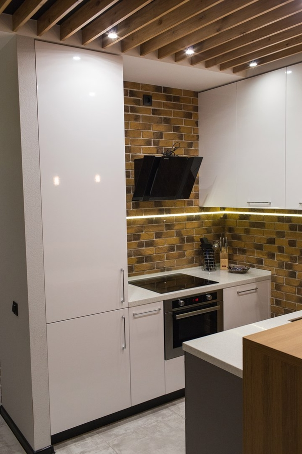 Купить желтую кухню-Кухня МДФ в пластике «Модель 12»-фото4