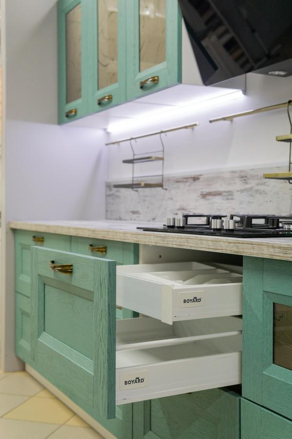 Встроенная кухня-Кухня из массива «Модель 46»-фото4