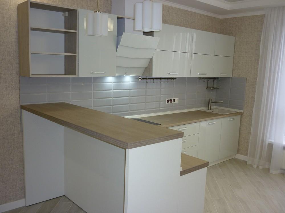 Акриловые кухни-Кухня из пластика «Модель 319»-фото8