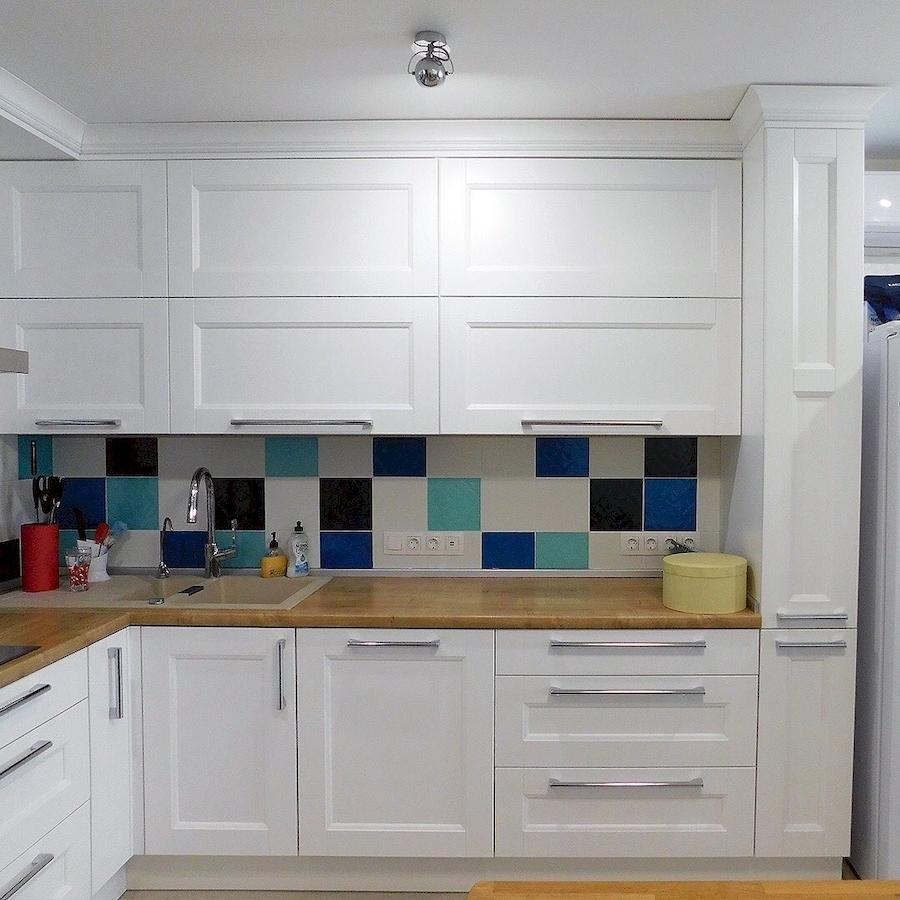 Белый кухонный гарнитур-Кухня МДФ в эмали «Модель 591»-фото4