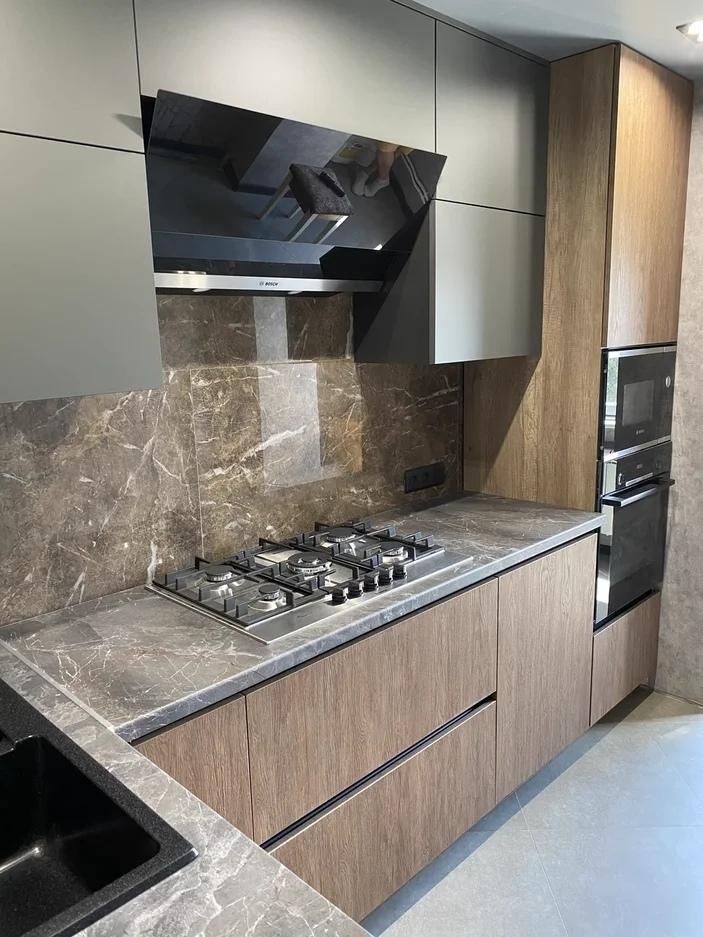 Встроенная кухня-Кухня из пластика «Модель 567»-фото1