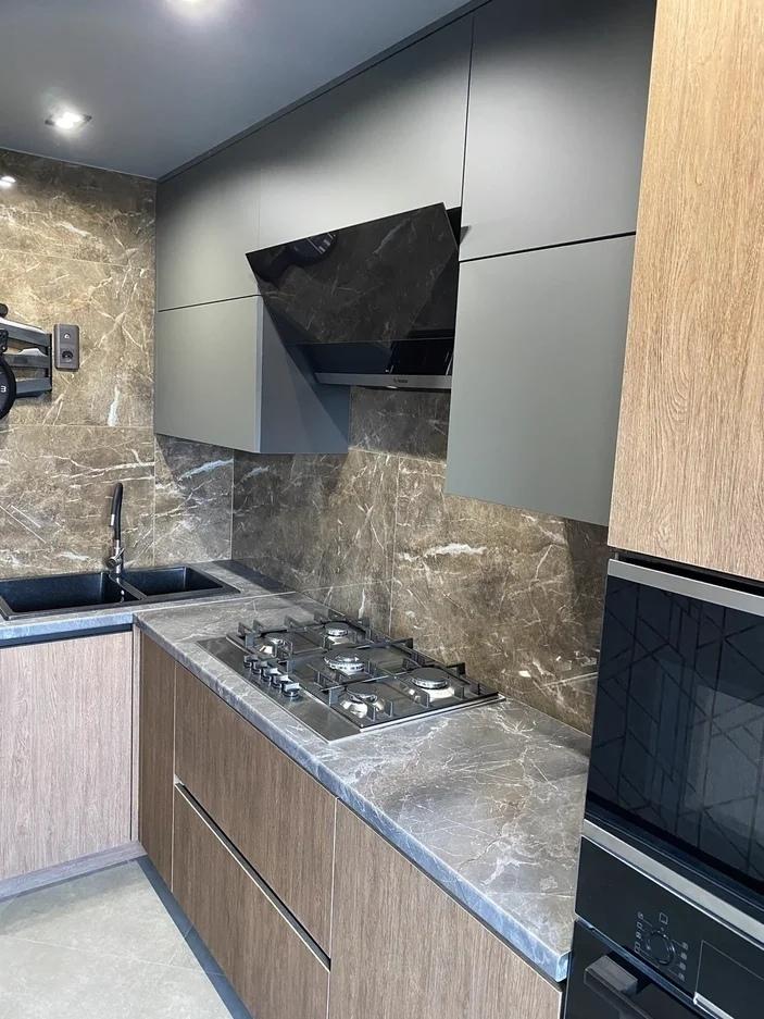 Встроенная кухня-Кухня из пластика «Модель 567»-фото2