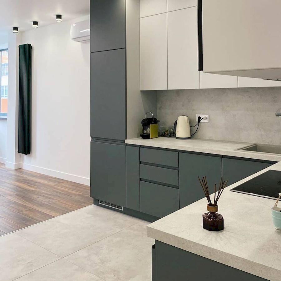 Белый кухонный гарнитур-Кухня МДФ в эмали «Модель 679»-фото4