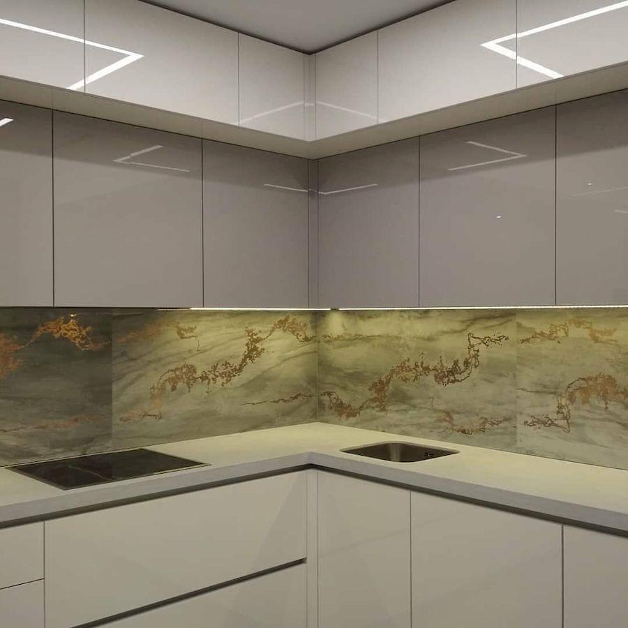 Акриловые кухни-Кухня из акрила «Модель 646»-фото3