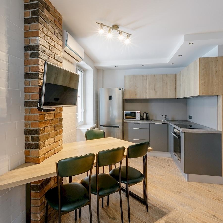 Купить кухню-Кухня МДФ в ПВХ «Модель 601»-фото1