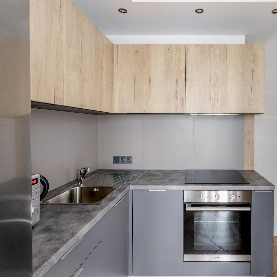 Купить кухню-Кухня МДФ в ПВХ «Модель 601»-фото3