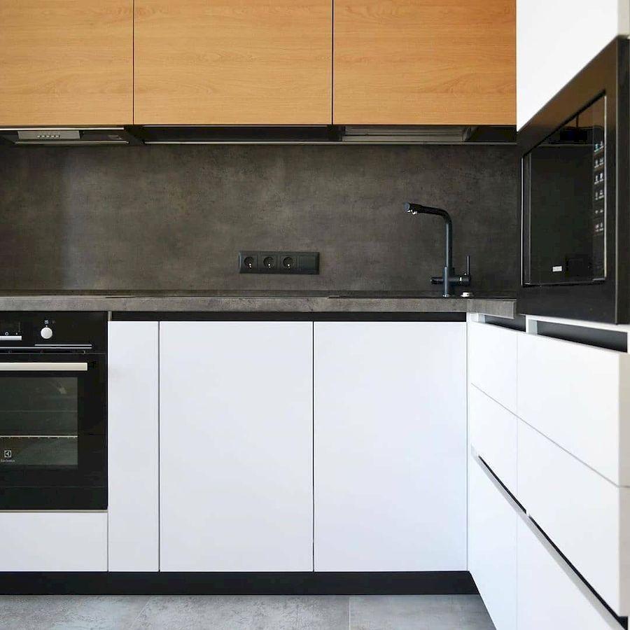 Белый кухонный гарнитур-Кухня МДФ в эмали «Модель 645»-фото4