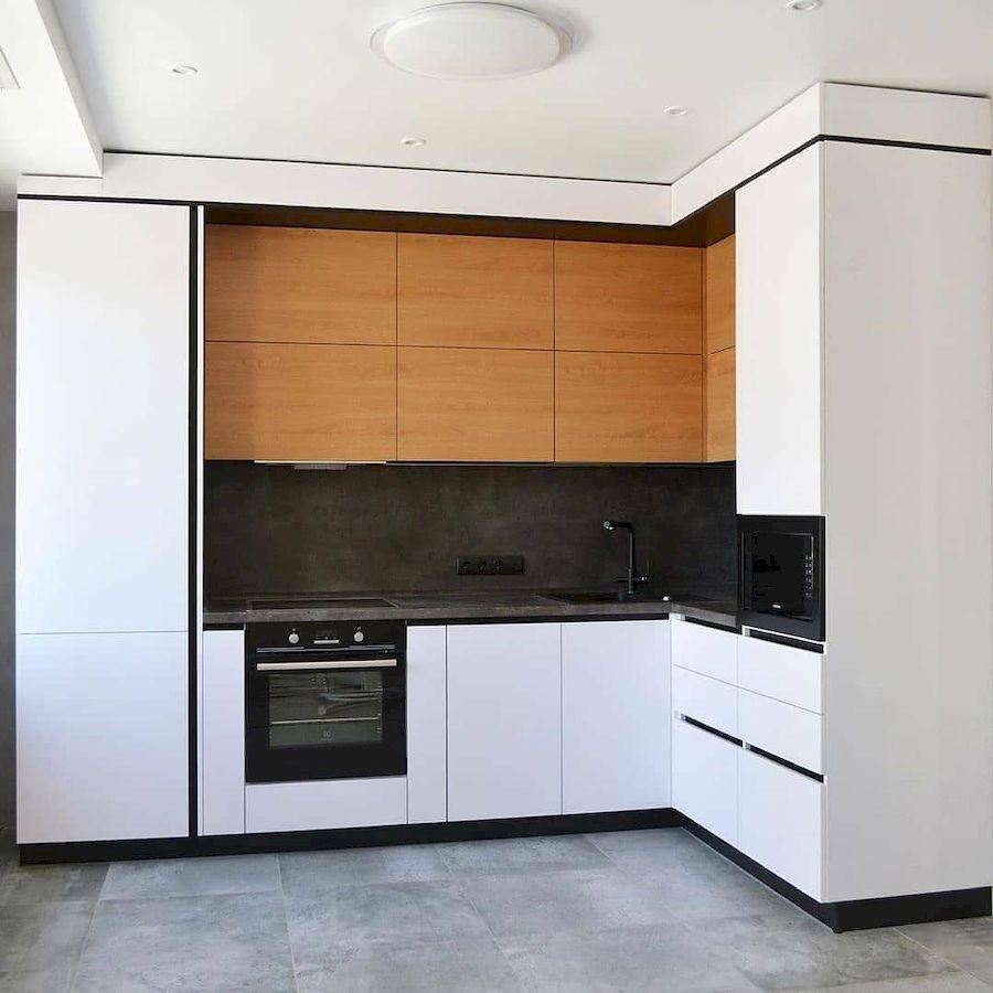 Белый кухонный гарнитур-Кухня МДФ в эмали «Модель 645»-фото1