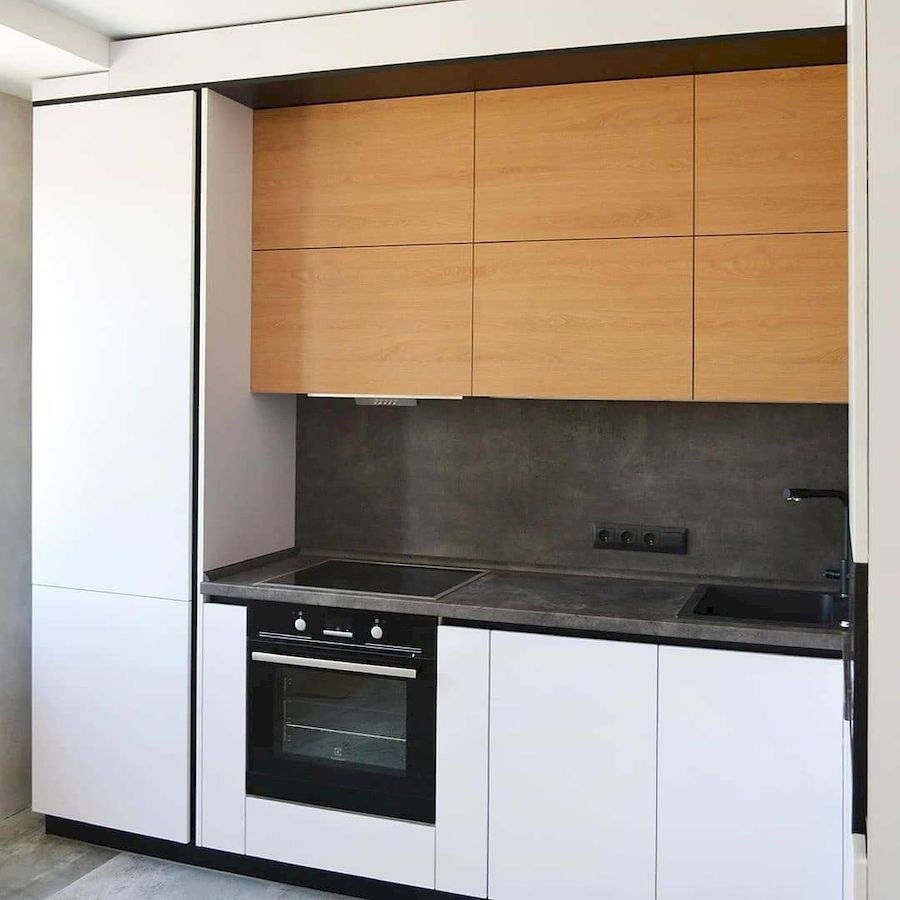 Белый кухонный гарнитур-Кухня МДФ в эмали «Модель 645»-фото3