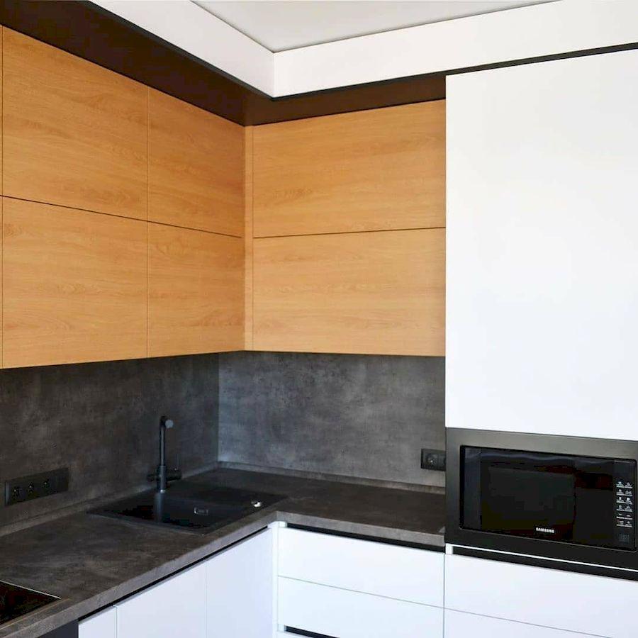 Белый кухонный гарнитур-Кухня МДФ в эмали «Модель 645»-фото5