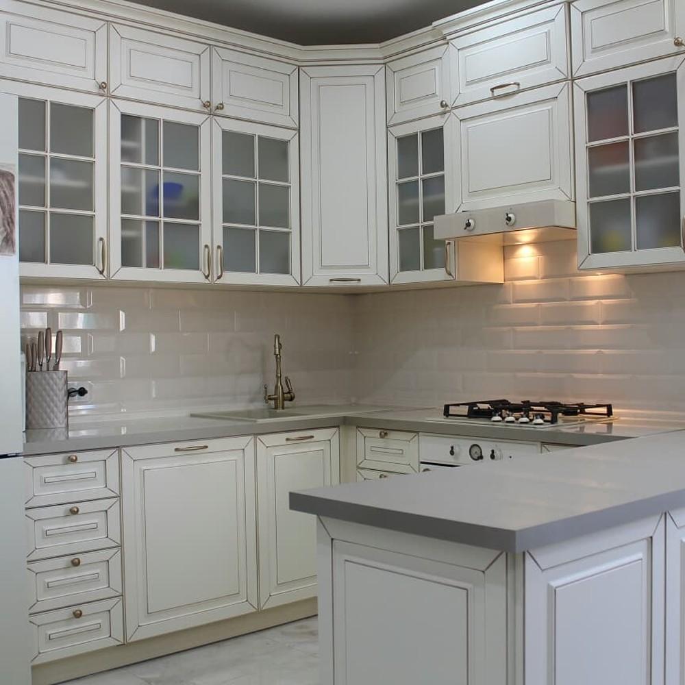 Встроенная кухня-Кухня МДФ в ПВХ «Модель 154»-фото1