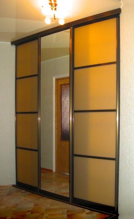 Большой шкаф-купе-Шкаф-купе с зеркалом «Модель 19»-фото1